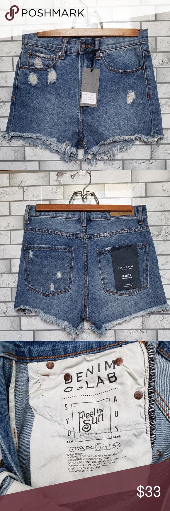 c9ddd51c90 Denim CoLAB NEW Highwaisted Shorts Denim CoLAB Saltwater & Song highwaisted jean  shorts features: *