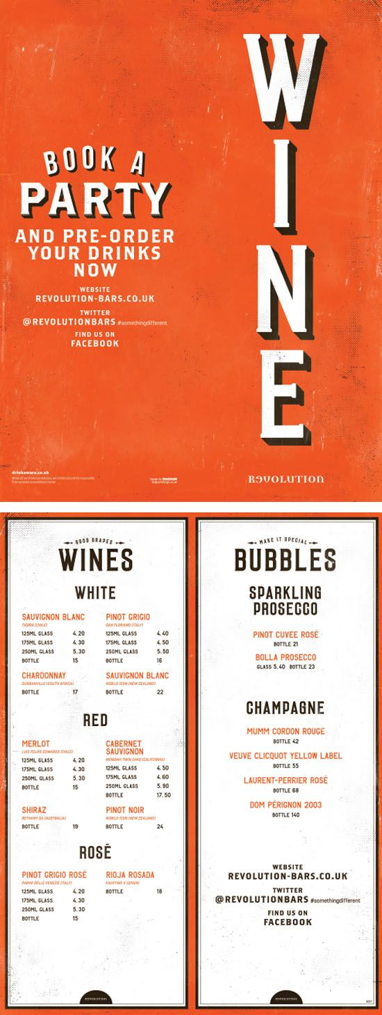 Wine Bar Menu Graphic Design Typography Cool Design By Www Diagramdesign Co Uk