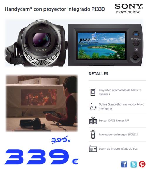 Comparte tus vídeos donde quieras Videocámara con PROYECTOR
