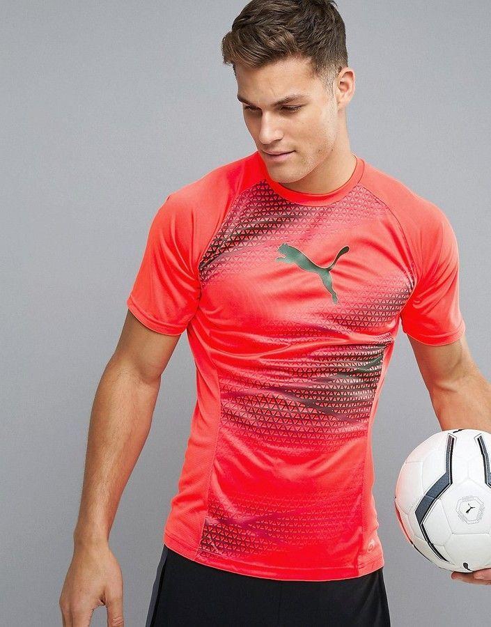 c9e6285c8dd Puma Soccer evoTRG Training Graphic T-Shirt In Orange men style ...