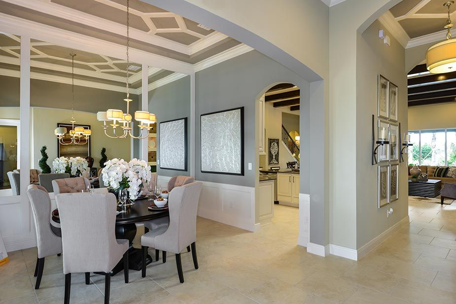 Key Largo Of Fishhawk Dining Room Love The Ceilings Home New Homes Building A House