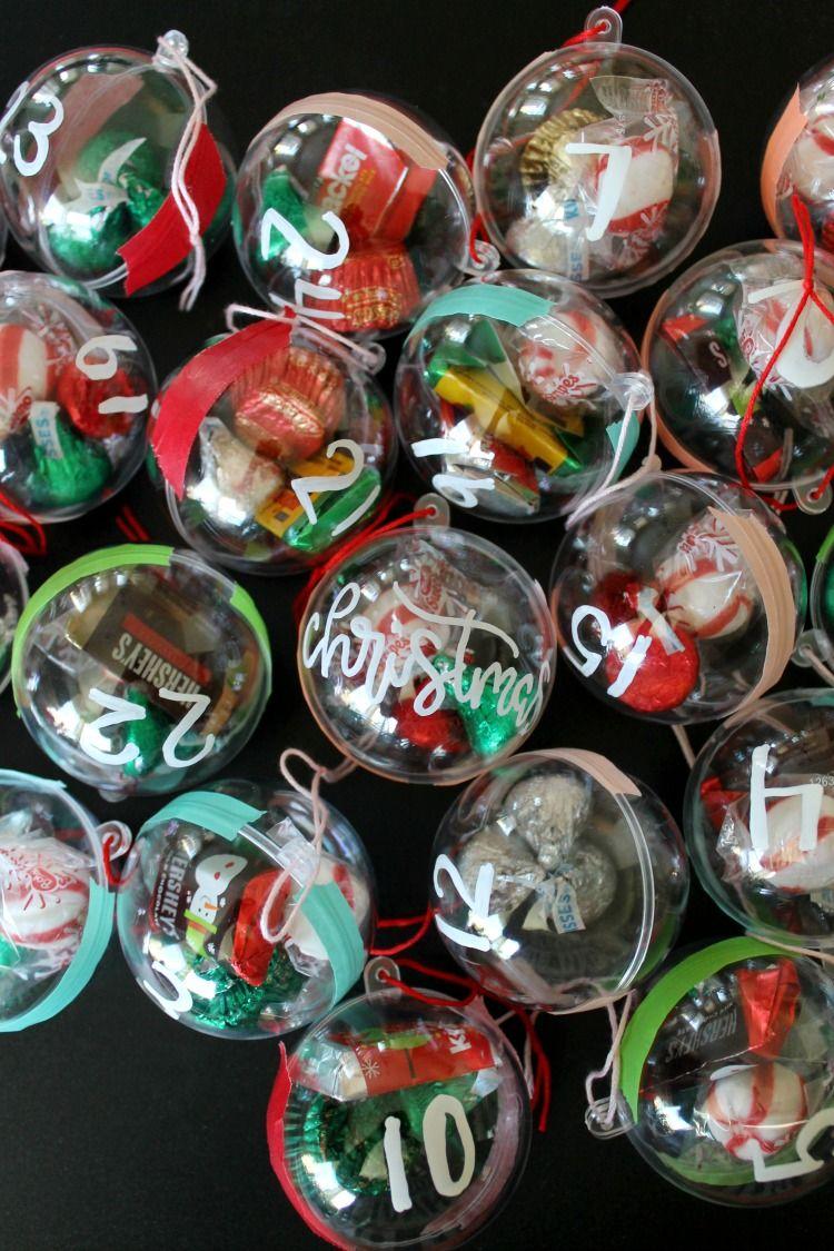 Candy Ornament DIY Advent Calendar for Kids Advent