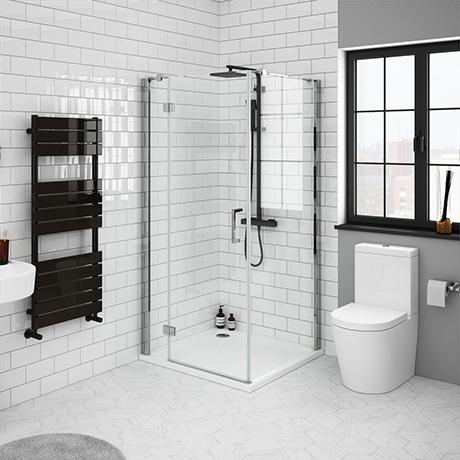 Apollo Frameless Hinged Door Square Enclosure L H Opening In 2020 Shower Enclosure Shower Doors Rectangular Shower Enclosures