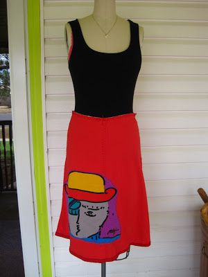 Notes From the Voodoo Cafe—appliquéd Alabama Chanin pattern skirt ...