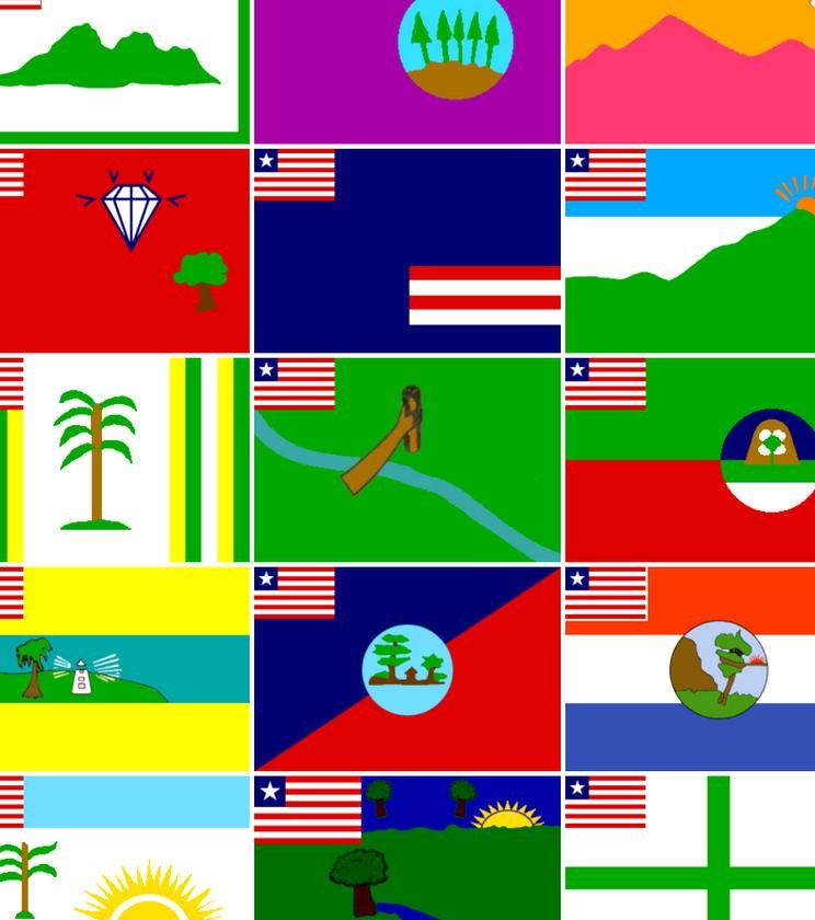 Lets Just Throw All Liberian County Flags In There In 2020 County Flags Best Flags Liberian Flag