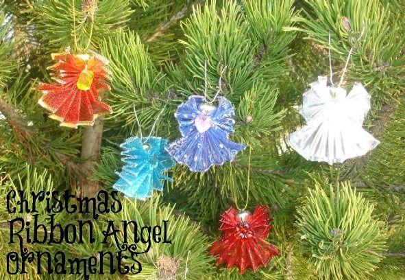 Christmas Ribbon Angel Ornaments