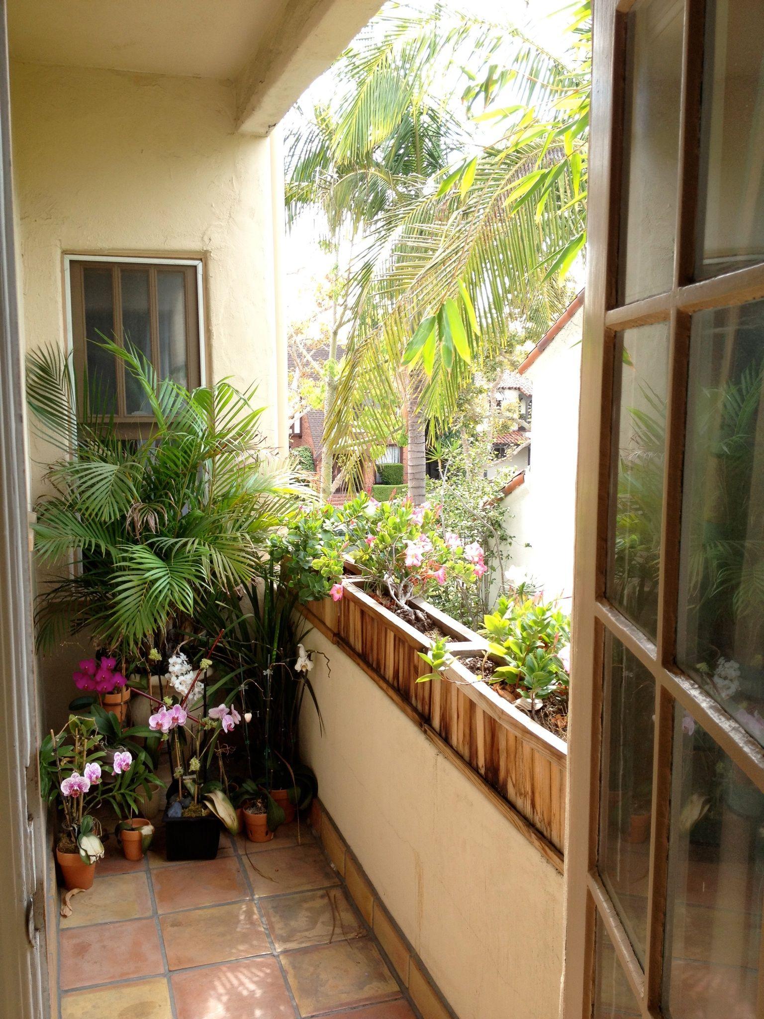 Master bedroom Side balcony orchid garden | Rooftop garden ...