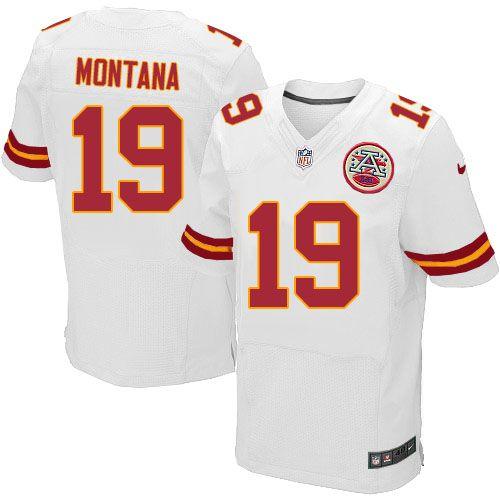 ad1ec139fb3 Nike Kansas City Chiefs Mens  19 Joe Montana Elite White NFL Jersey on sale