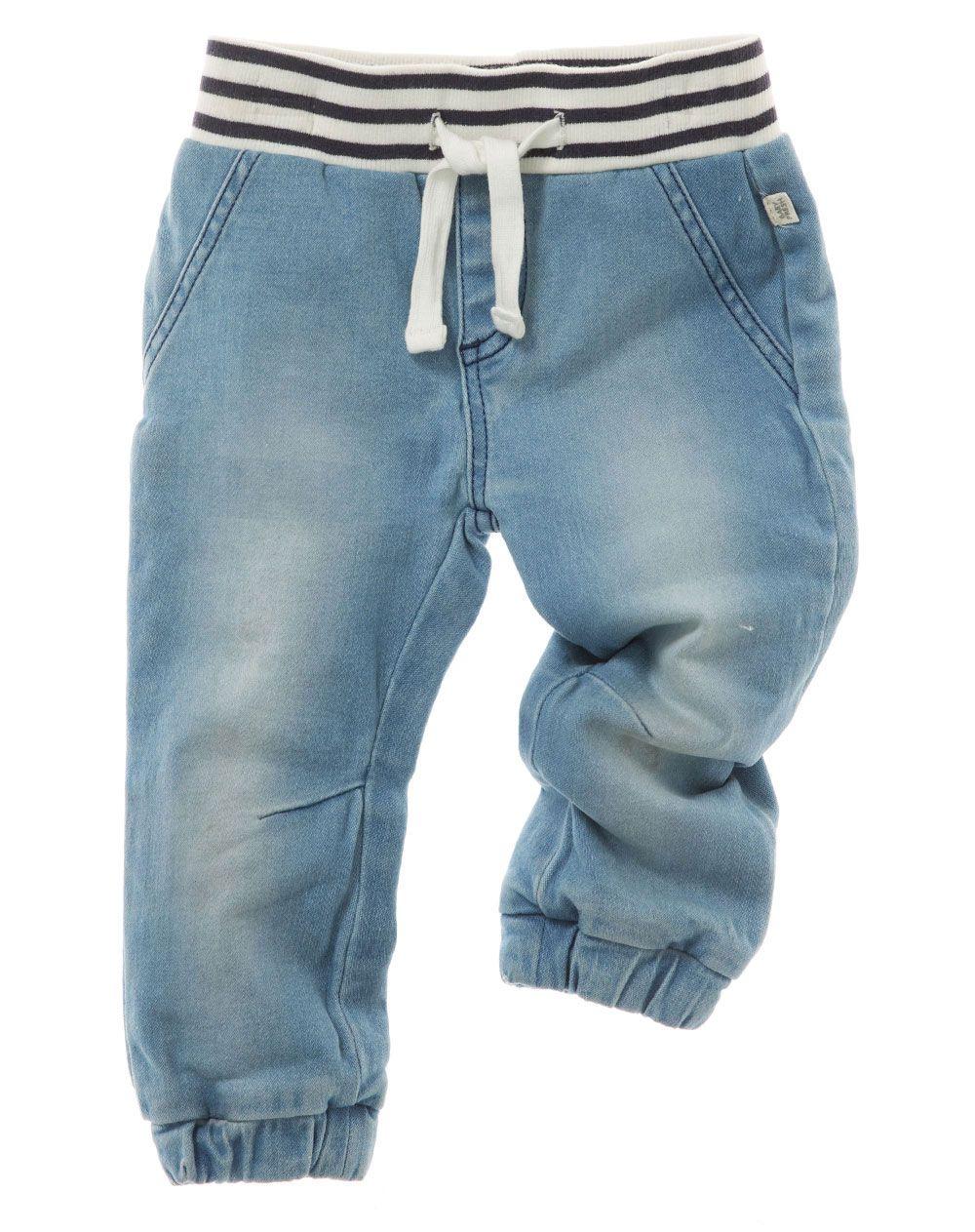 LAPLBEKE Boys Jeans Elasticated Adjustable Waist Trousers Blue Wash Denim Pants Children Kids Spring Autumn Winter
