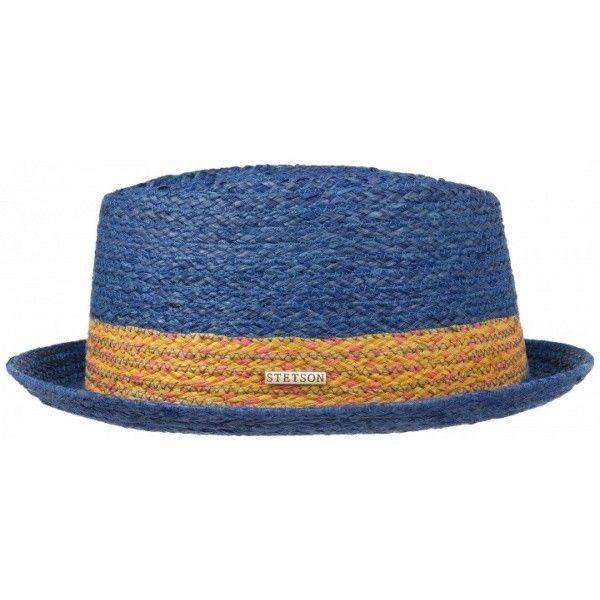 Chapeau porkpie twin bleu stetson  9fe0a26218a3