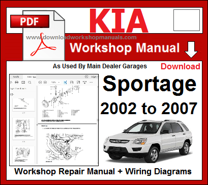 Kia Sportage 2002 To 2007 Workshop Manual Pdf Kia Sportage Kia Repair Manuals