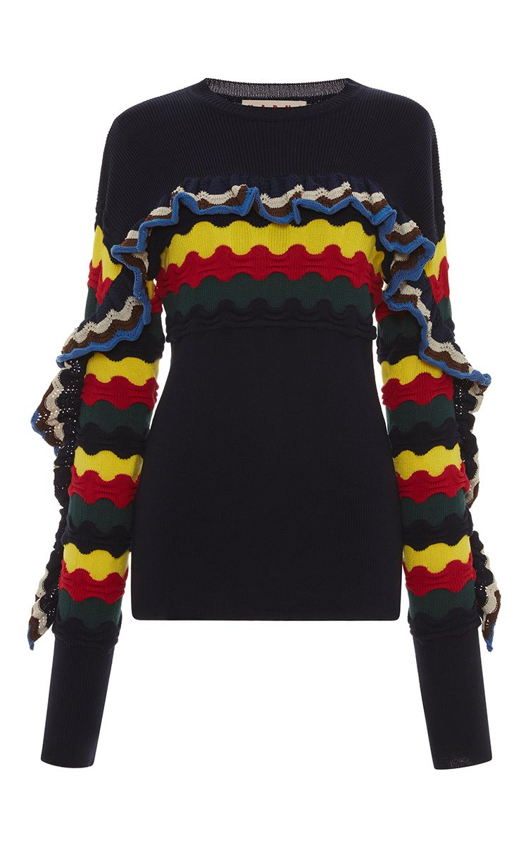 cloth sweater Marni Ruffle marni Sweater Multicolor FUvWYwHqSI