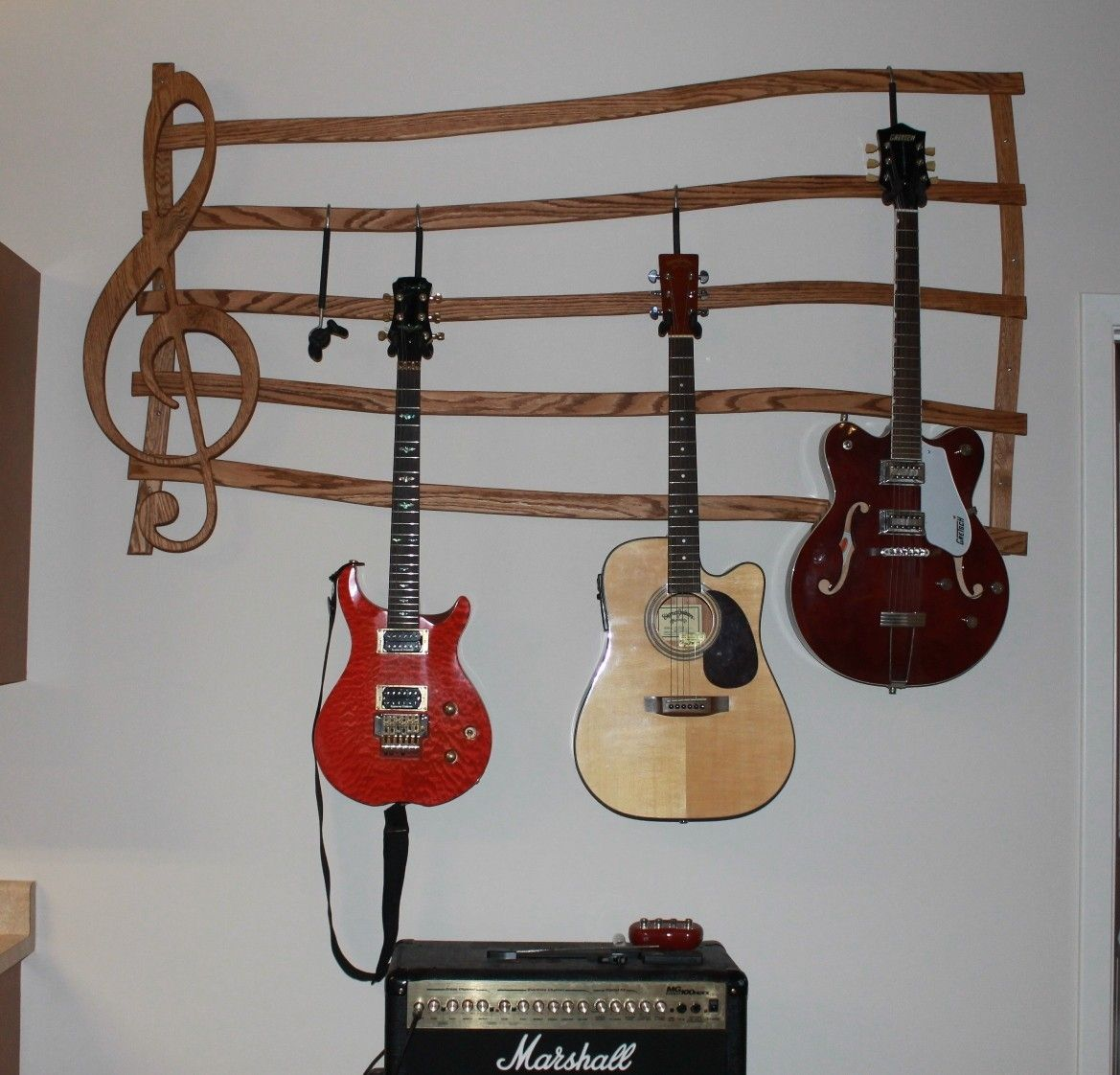 Music Note Guitar Holder Hanging Shelf Bing Images