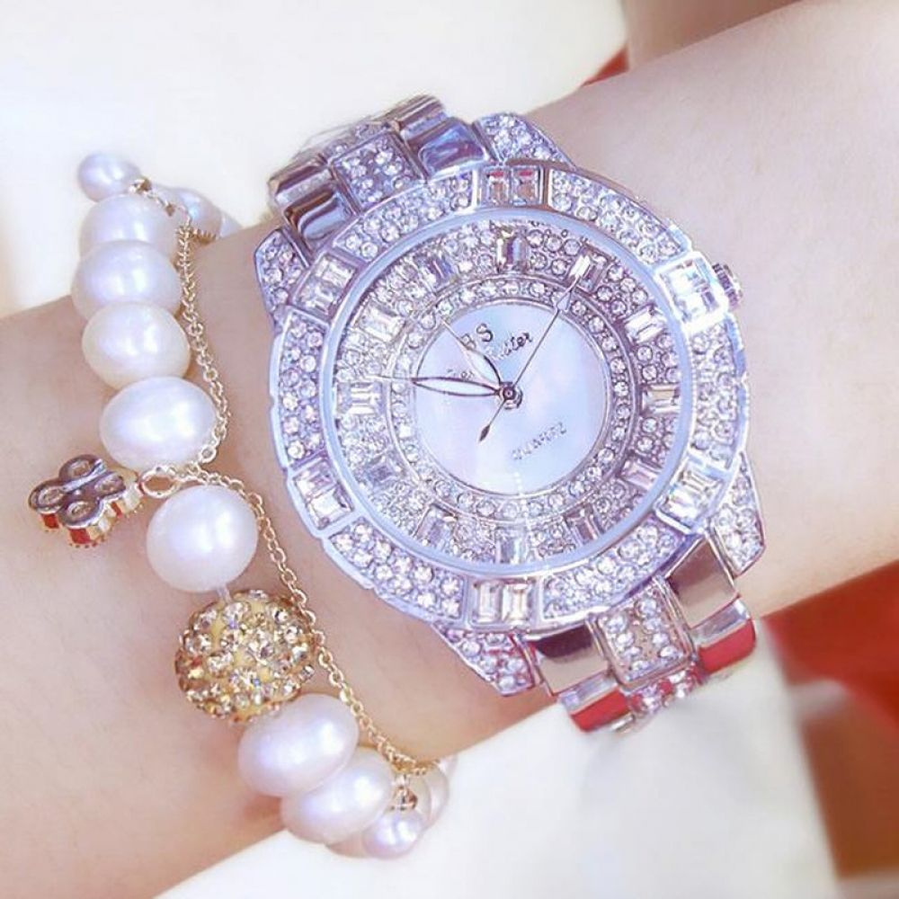 3c196b34 Luxury Women Rhinestone Watches Lady Crystal Dress Watch Stainless ...