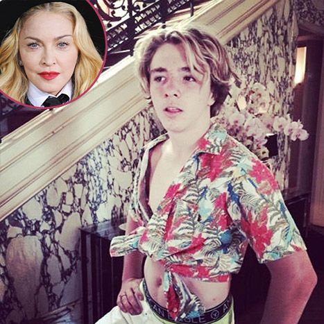 Madonna gave a shout-out to her first ex-husband Sean Penn via Instagram. The Material Girl posted a hilarious picture of her son Rocco channeling Penn's Jeff Spicoli character from 1982's Fast Times at Ridgemont High. LOL!