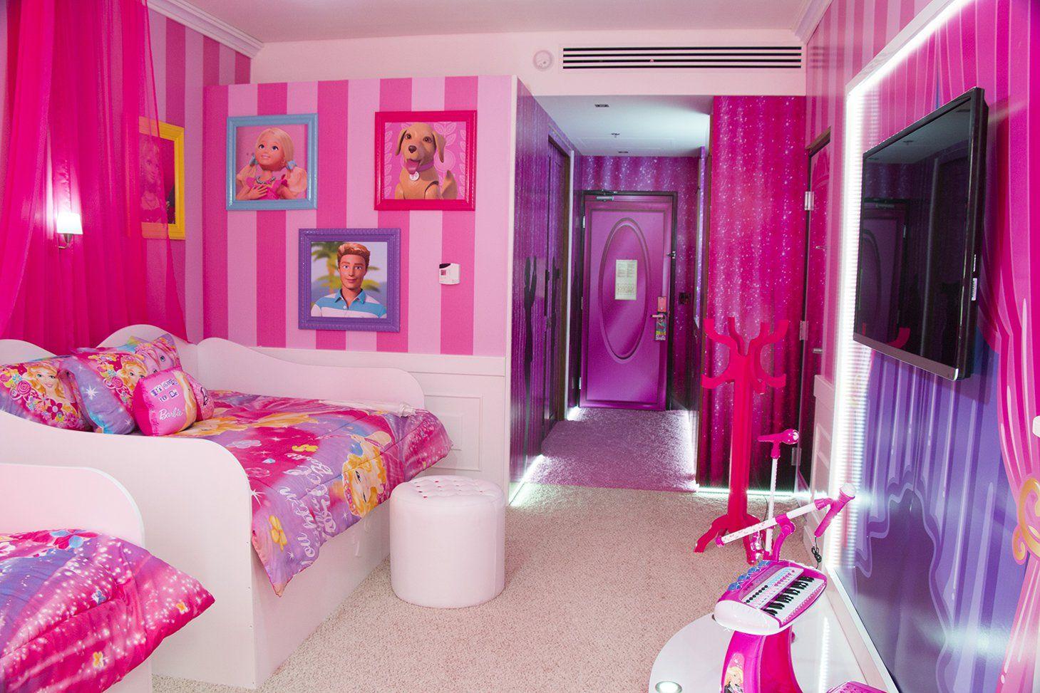 Image result for pink room design Barbie room decor