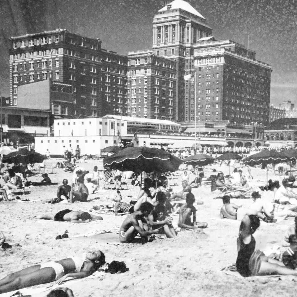 Resorts Casino Hotel Before Casinos When It Was Known As Part Of The Chalfonte Haddon Hall Hotel Complex Atlantic City Boardwalk Vacation Days American Cities