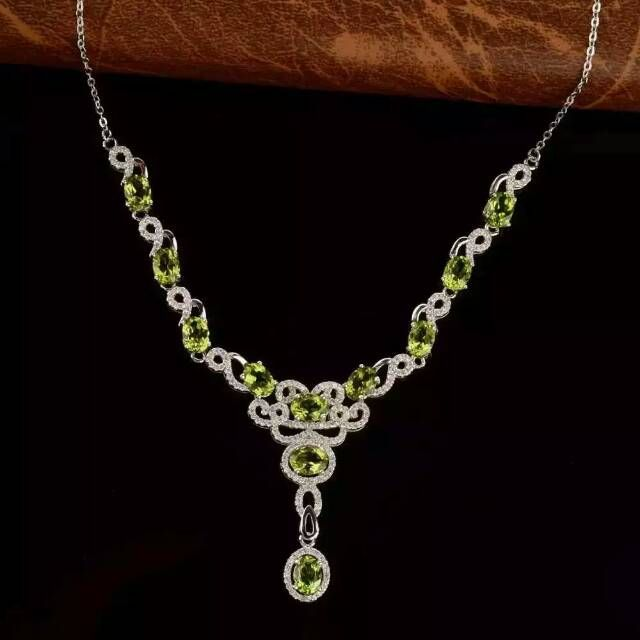 amethyst party double stone women natural silver pendant drop necklace fashion peridot item water