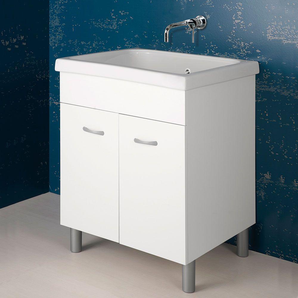 Lavatoio Ceramica Con Mobile.Lavatoio In Ceramica 75x65 Rodano Con Mobile Bianco Arredo