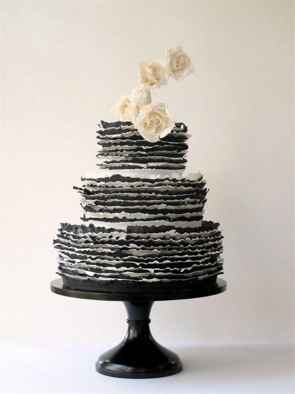 Modern Black and White Wedding Cakes