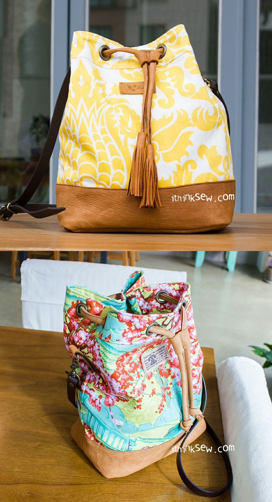 Natalie Bag PDF Pattern - ithinksew.com | Backpack | Pinterest ...