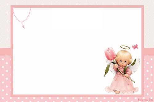 Kit Imprimible De Bautismo Con ángeles Tarjetas De Bautizo Niña Tarjeta De Bautizo Invitaciones De Bautizo Gratis