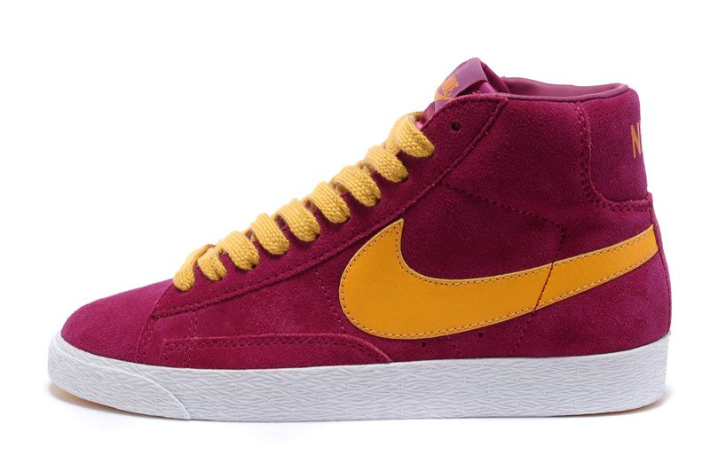 Women Nike Blazer High Red Yellow Shoes