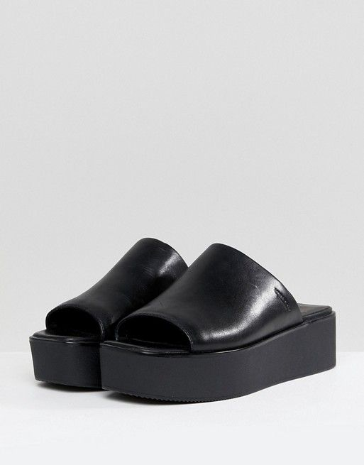 8153e60f410 Vagabond Bonnie Black Leather Platform Slides