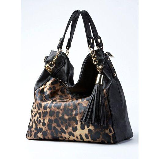 Cheetah Print Women Designer Bag Tassel Yellow Handbag ...