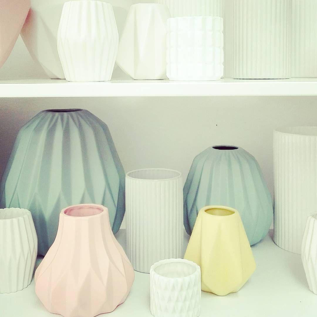 Vases Pastel Origami Home Decor Cosy