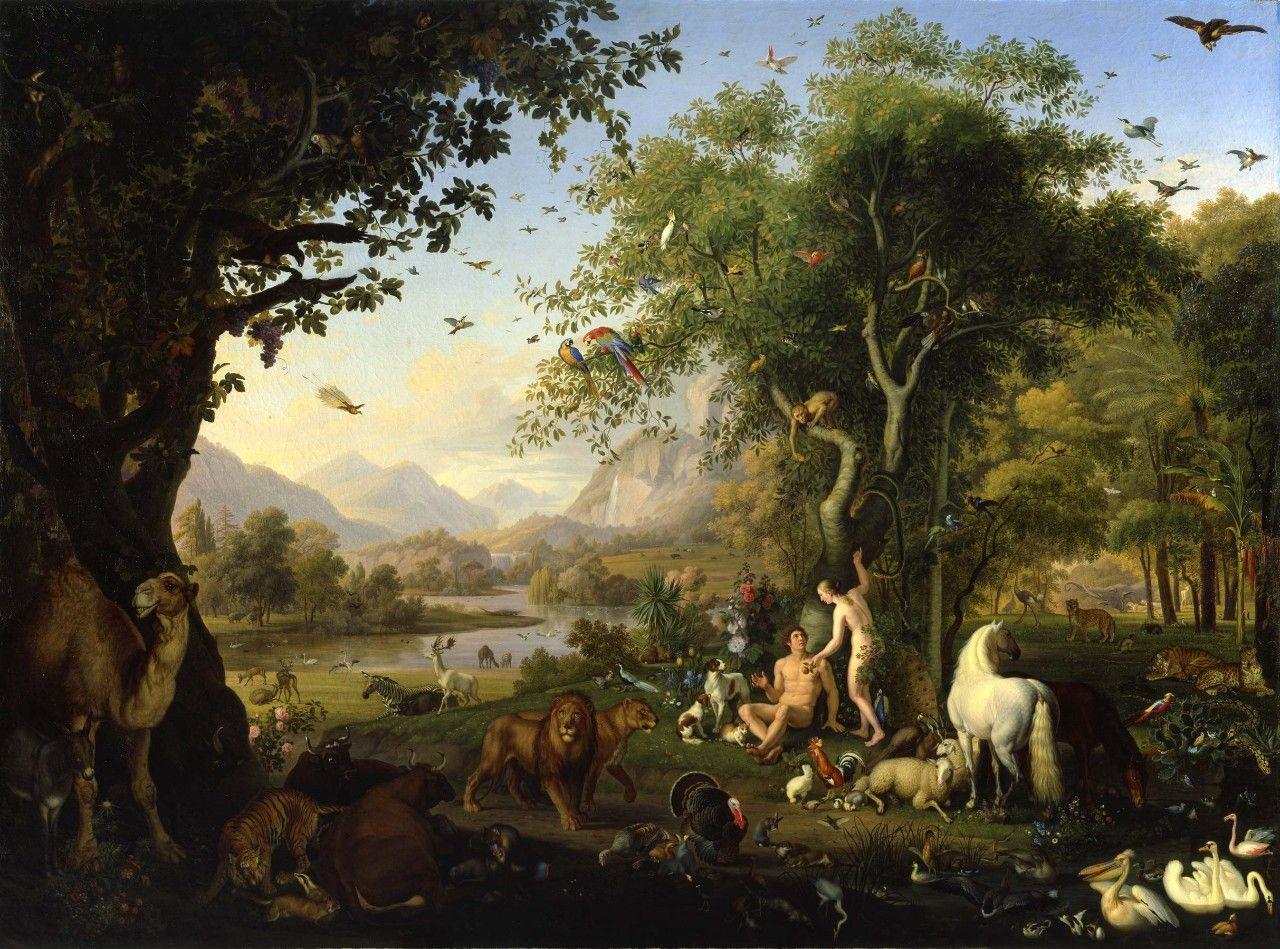 Wenzel Peter Adán Y Eva En El Paraíso Terrenal Adam And Eve Painting Garden Of Eden