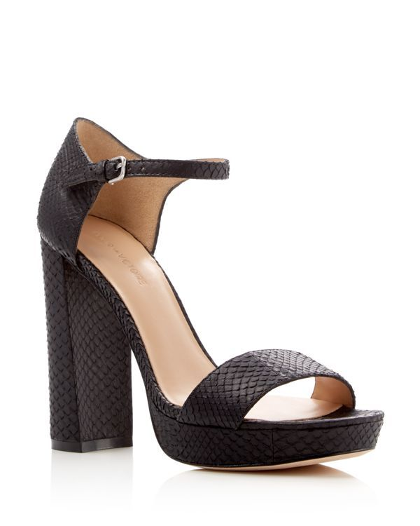 f682445c6d015 Pour La Victoire Yvette Snake-Embossed Platform Sandals