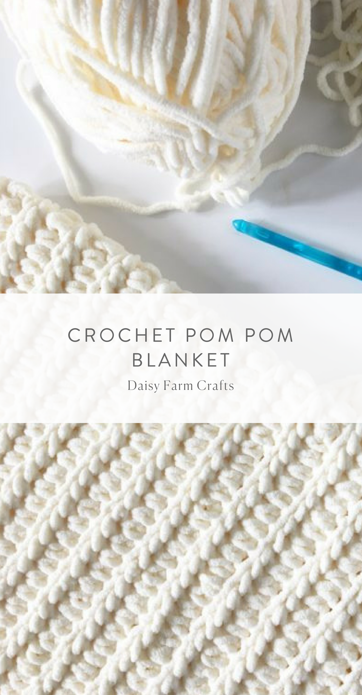 Free Pattern - Crochet Pom Pom Blanket | Sewing Addiction ...