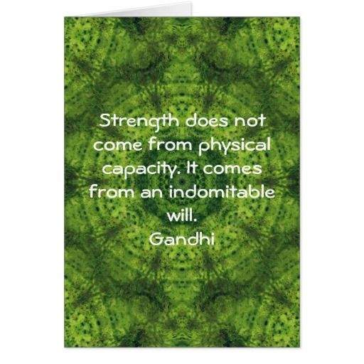 Gandhi Inspirational Motivational Quotation Card