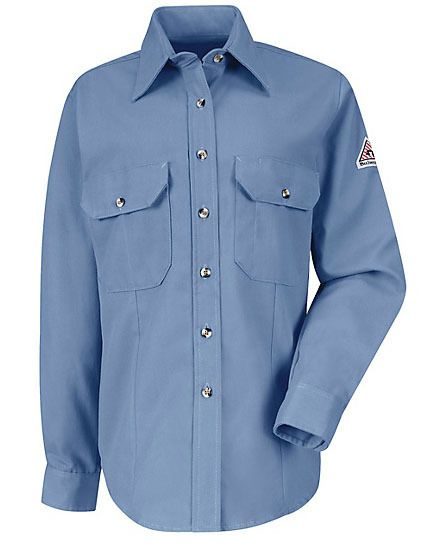 7c31e90427e9 Bulwark FR Safety Clothing - FRC Safety - Bulwark Flame Resistant Women s  Dress Uniform Shirt - HRC2