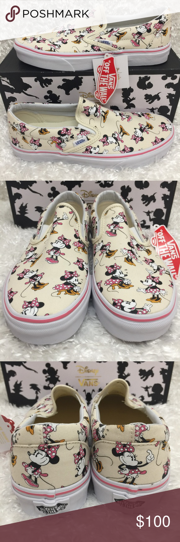 NEW Vans Classic Slip-On Minnie Mouse