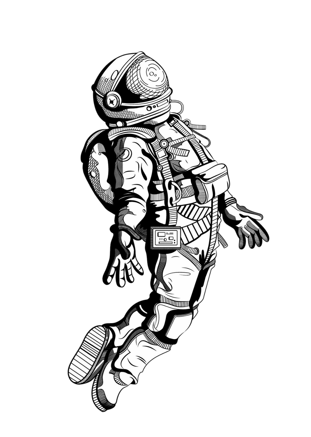 Pin By On Space Art Graphics Astronaut Tattoo Astronaut Art Tattoo Sketches