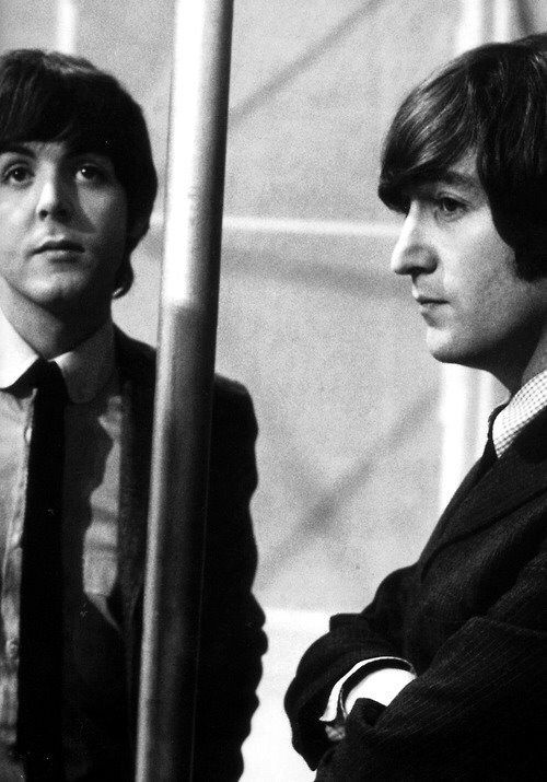 """Paul and John during """"the Music of Lennon and McCartney"""" 1965"""