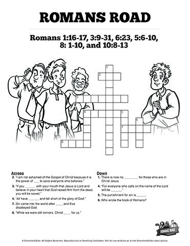 Romans Road Sunday School Crossword Puzzles This Fun And Challenging Kids Bible Activity Will Get
