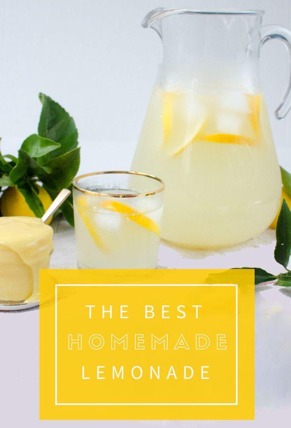 The Absolute Perfect Homemade Lemonade Recipe!