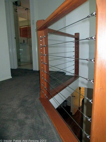 Best Stainless Steel Wire Balustrade 5 Internal Stairs Gold 400 x 300