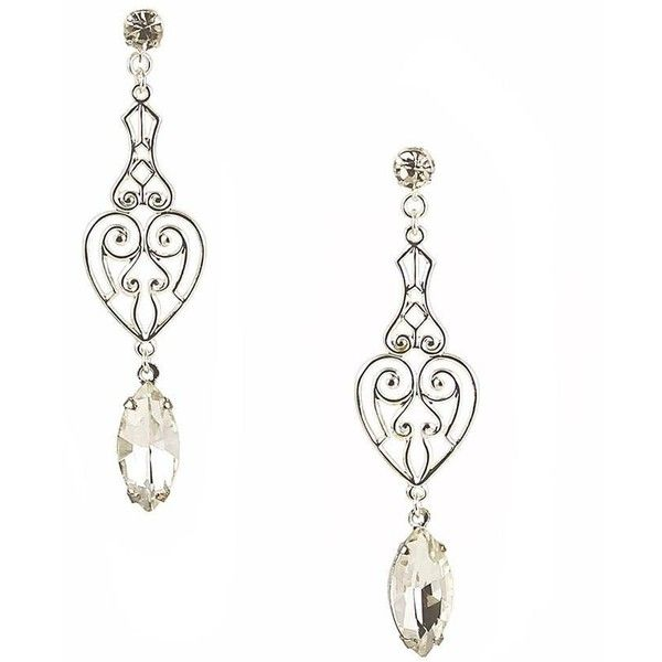 Elaine Earrings (3.415 RUB) ❤ liked on Polyvore featuring jewelry, earrings, vintage bridal jewelry, bridal earrings, vintage drop earrings, stud drop earrings and vintage bridal earrings