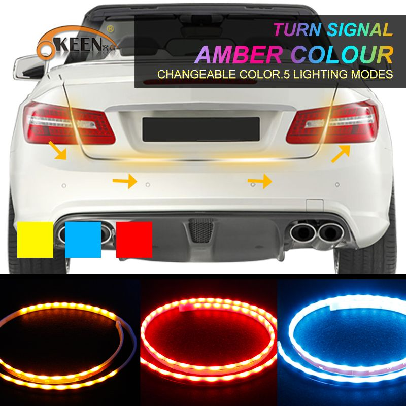 Check discount okeen car styling amberred blue led trunk check discount okeen car styling amberred blue led trunk undercarriage floating light strip with led mozeypictures Choice Image