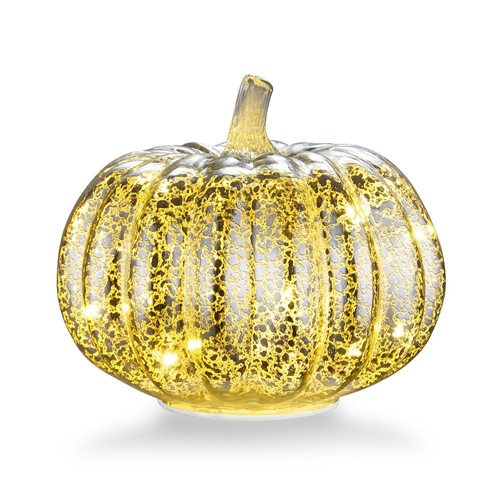 Mercury Glass Home Decor Pumpkin, XY Decor 5.5\