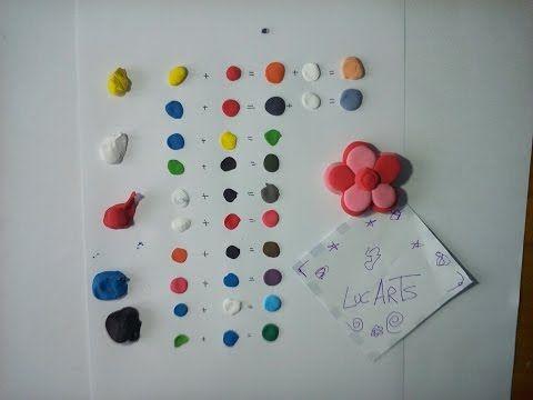 Como crear colores, a partir de los cinco colores primarios, con plastilina. - YouTube