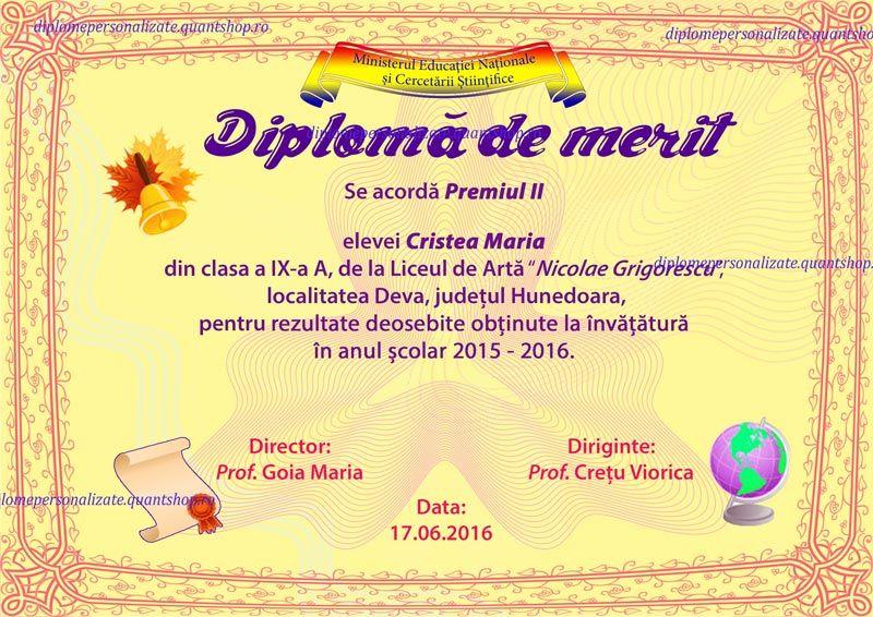 d diploma de merit premiu personalizata liceu model a jpg  d302 diploma de merit premiu personalizata liceu model