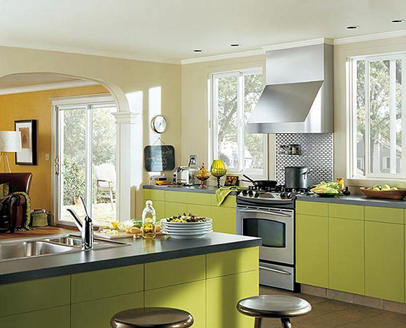 Interior Designing Ideas : Home Interior Design Ideas Window Treatments  Contemporary Funky Kitchen