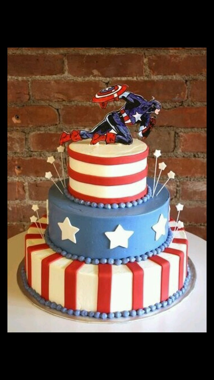 But flash captain america birthday cake captain america