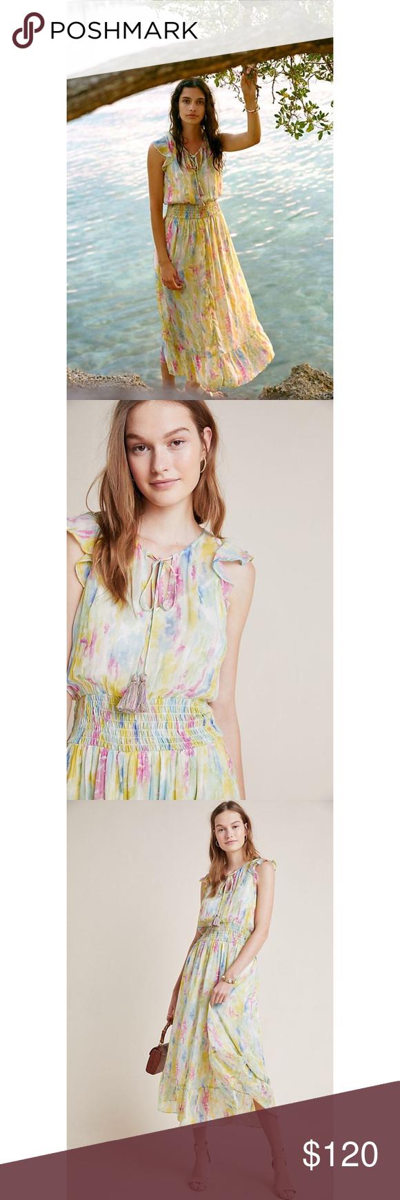 Anthropologie Watercolor Maxi Dress Maxi Dress Designs Occasion Dresses Anthropologie Dress [ 1740 x 580 Pixel ]