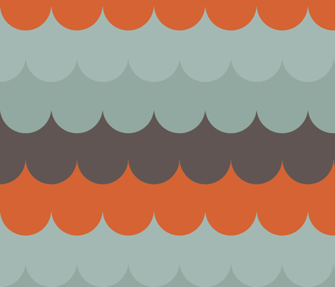 waves in aqua and orange by holli zollinger